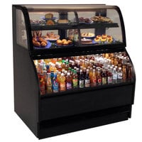 Structural Concepts Harmony HMBC3-QS Black 39 inch Refrigerated Dual Service Merchandiser Case - 12.16 Cu. Ft., 120V