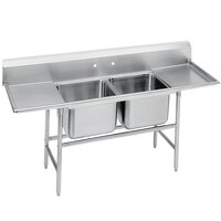 Advance Tabco 94-82-40-36RL Spec Line Two Compartment Pot Sink with Two Drainboards - 117 inch
