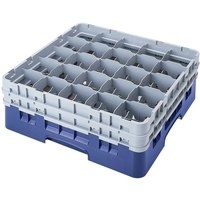 Cambro 25S418168 Camrack 4 1/2 inch High Blue 25 Compartment Glass Rack