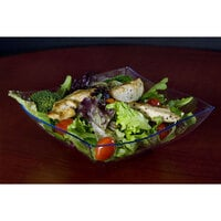 Fineline Wavetrends 128-CL Clear Plastic Serving Bowl 128 oz. - 25 / Case