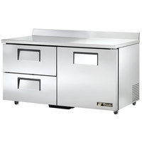 True TWT-60D-2-ADA 60 inch Deep ADA Compliant Work Top Refrigerator with Two Drawers and One Door - 15.9 Cu. Ft.