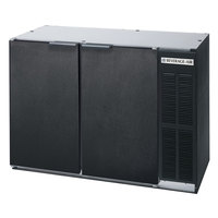 Beverage Air BB48Y-1-B 48 inch Back Bar Refrigerator with 2 Solid Doors 115V