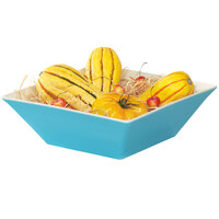 GET ML-248-SE Keywest 5.7 Qt. Seabreeze Square Melamine Bowl - 3 / Case