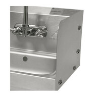 Advance Tabco 7-PS-27A Bolted Side Splash for 9 inch x 9 inch Sinks - 7 3/4 inch High