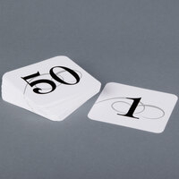 Cal-Mil 671-1 White Number Card Set 1-50