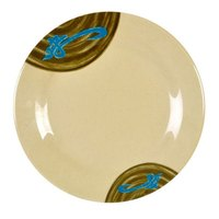 Wei 14 1/8 inch Round Melamine Plate - 12/Pack