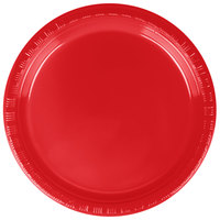 Creative Converting 28103111B 7 inch Classic Red Plastic Lunch Plate - 50 / Pack