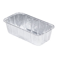 D&W Fine Pack 15640 1 1/2 lb. Aluminum Foil Loaf Pan - 50 / Pack