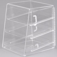 Cal-Mil P257 Classic Three Tier Acrylic Display Case - 10 inch x 15 inch x 13 1/2 inch
