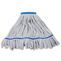 Unger ST45B SmartColor RoughMop 16 oz. Blue Heavy Duty Microfiber String Mop Head