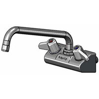 Equip by T&S 5F-4WLX10 10 1/8 inch Wall Mount Swivel Faucet with 4 inch Centers
