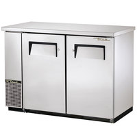 True TBB-24-48FR-S 49 inch Stainless Steel Food Rated Back Bar Refrigerator with Two Solid Doors - 24 inch Deep