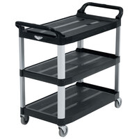 Vollrath 97007 Black Multi-Purpose Utility Cart with Three Shelves