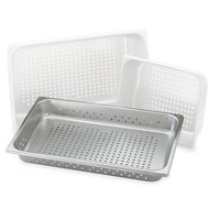 Vollrath 30013 Super Pan V Full Size Anti-Jam Stainless Steel Perforated Steam Table / Hotel Pan - 1 1/2 inch Deep