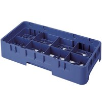Cambro 8HS434186 Navy Blue Camrack 8 Compartment 5 1/4 inch Half Size Glass Rack