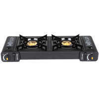 2-Burner High Performance Butane Countertop Range / Portable Stove with Brass Burners