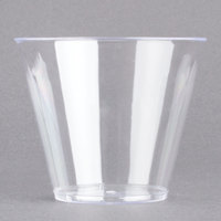 Fineline Savvi Serve 409-CL 9 oz. Squat Clear Hard Plastic Tumbler - 20/Pack