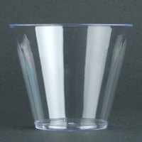Fineline Savvi Serve 409-CL 9 oz. Squat Clear Hard Plastic Tumbler 20/Pack