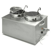 APW Wyott CWM-2SP Full Size 22 qt. Insulated Countertop Food Cooker / Warmer for Soup with Drain - 120V