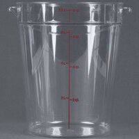 Cambro RFSCW8 Camwear 8 Qt. Clear Round Food Storage Container