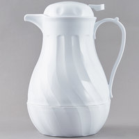 Choice VSW-64W 1.9 Liter White Thermal Swirl Server