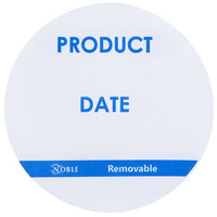 Noble Products 3 inch Product Date Round Removable Label with Dispenser Carton - 500 / Roll