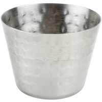 American Metalcraft HAMSC 2 oz. Hammered Stainless Steel Round Sauce Cup