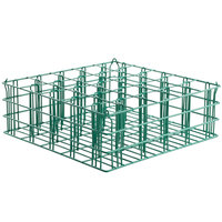 16 Compartment Catering Glassware Basket - 4 3/8 inch x 4 3/8 inch x 2 3/4 inch Compartments