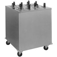 Delfield CAB4-725 Mobile Enclosed Four Stack Dish Dispenser for 6 1/2 inch to 7 1/4 inch Dishes