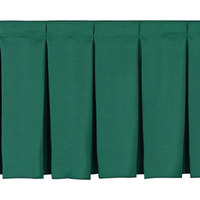 National Public Seating SB24-48 Green Box Stage Skirt for 24 inch Stage - 48 inch Long