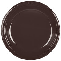 Creative Converting 28303831 10 inch Chocolate Brown Plastic Banquet Plate - 240 / Case