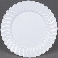 Fineline Flairware 207-WH 7 1/2 inch White Plastic Plate - 180 / Case