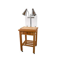 Buffet Enhancements 010HCC Maple Butcher Block Mobile Carving Station
