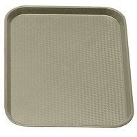 Desert Tan Cambro 1014FF104 10 inch x 14 inch Customizable Fast Food Tray 24/Case