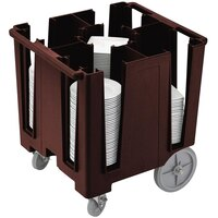 Cambro DCS950131 Dark Brown Versa Dish Caddy with Vinyl Cover - 5 Column
