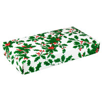 9 3/8 inch x 5 5/8 inch x 1 1/8 inch 2-Piece 1 lb. Holly Candy Box - 125 / Case