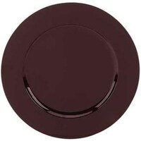 Tabletop Classics TRBR-6651 13 inch Brown Round Acrylic Charger Plate