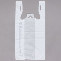 1/8 Size White T-Shirt Bag - 1000 / Case