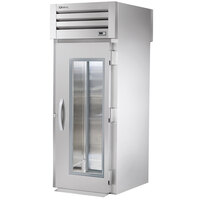True STG1RRT-1G-1S Specification Series One Section Roll Through Refrigerator with Front Glass Door and Rear Solid Door - 37 Cu. Ft.