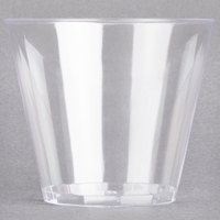 Fineline Savvi Serve 405 5 oz. Squat Clear Hard Plastic Tumbler   - 500/Case