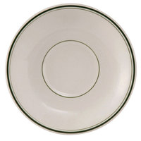 Tuxton TGB-036 Green Bay 5 inch Wide Rim Rolled Edge China Demitasse Saucer - 36/Case