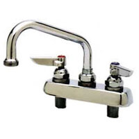 6 inch T&S B-0222 Heavy Duty Deck Mounted Swivel Faucet with 8 inch Centers