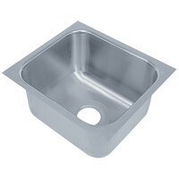 Advance Tabco 1824A-14A 1 Compartment Undermount Sink Bowl 18 inch x 24 inch x 14 inch