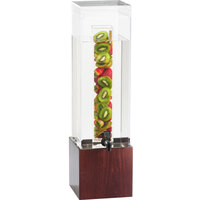 Cal-Mil 1527-1INF-52 1.5 Gallon Westport Dark Wood Infusion Dispenser - 8 1/4 inch x 9 3/4 inch x 17 3/4 inch