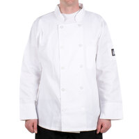 Chef Revival J100-L Size 46 (L) Customizable Double Breasted Chef Coat - Poly Cotton