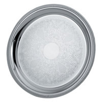 Vollrath 82367 Elegant Reflections 15 1/4 inch Silver Plated Stainless Steel Round Catering Tray