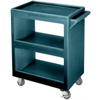 Cambro BC230192 Granite Green Three Shelf Service Cart - 33 1/4 inch x 20 inch x 34 5/8 inch