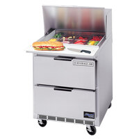 Beverage Air SPED27-A 27 inch Refrigerated Salad / Sandwich Prep Table with 2 Drawers