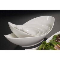 American Metalcraft PLDB38 1 oz. Porcelain Leaf Bowl