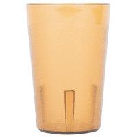 8 oz. Amber Pebbled Plastic Tumbler - 12/Pack